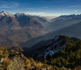 La bassa VdA dalla vetta del Mont Lyan © Fabio Bertuzzo
